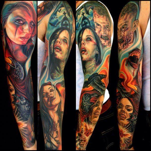 tattoo of the day by nikko hurtado joey voodoo